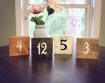Rustic, chic, Wedding table numbers, table numbers wedding, single table wedding numbers