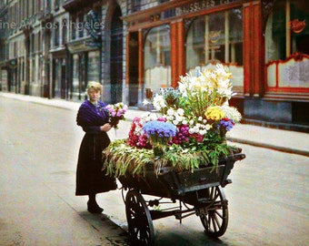 Autochrome Photo, 53 Rue Cambon, Paris, 1918