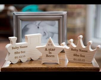 Personalised Baby Wooden Keepsake