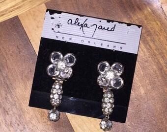 Clip-on Dangle Earrings / Crystal & Rhinestone by {Alexa Jared}