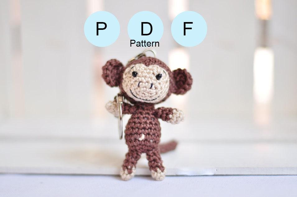 Amigurumi Monkey Keychain : ?rochet monkey pattern amigurumi pattern monkey keychain