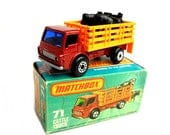 1970s Vintage Matchbox Superfast 71e Cattle Truck Toy Collectible Made in England