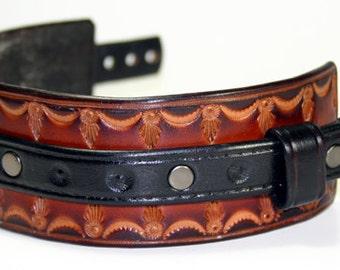Leather Wrist Cuff Western Rock Star Bracelet