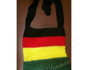 On sale!- Rasta Jamaican crochet purse messager bag