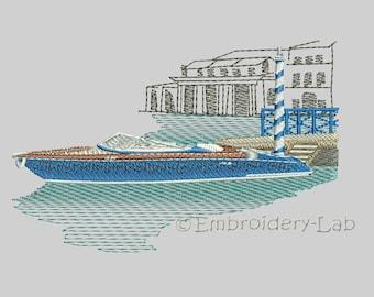 Yacht 0001 - machine embroidery design