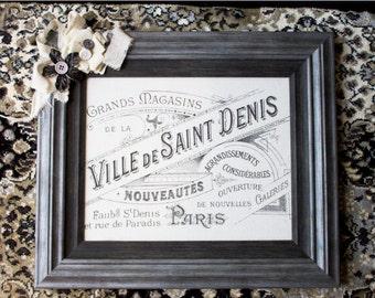 Saint Dennis Street Framed Art