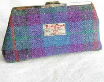Harris Tweed clutch bag.