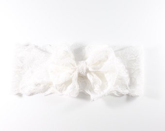 LoveTiesUs Lace HeadBand in White