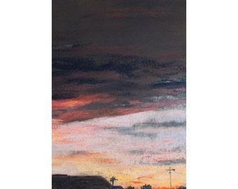 Phoenix Sunset, unframed