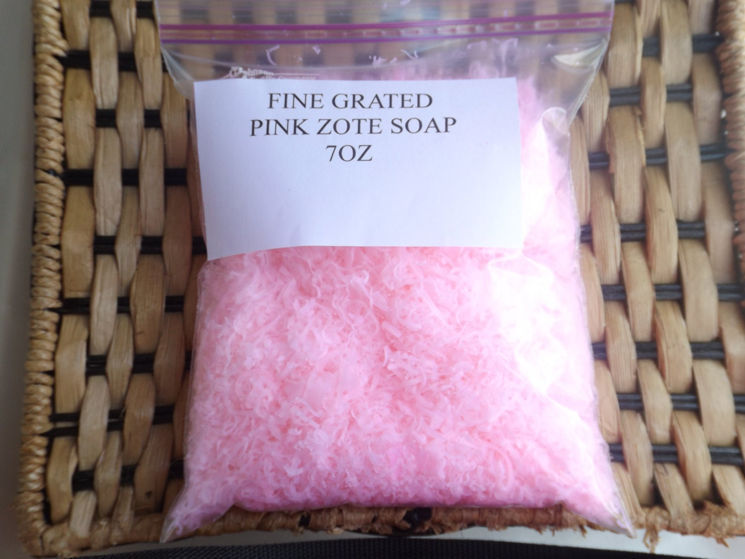 Grated Pink White Zote Soap 7 Oz For Making Homemade Laundry