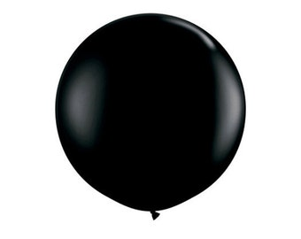 1- Round Black 36 inch Balloon- Colorful and great quality. Helium Quality