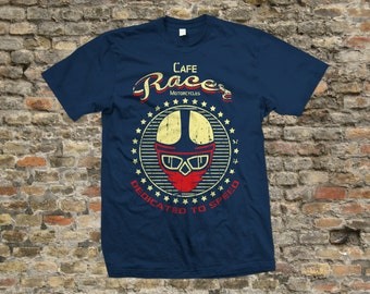 Cafe Racer Dedicated to Speed T Shirt 100% cotton - 2075