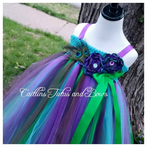 Peacock tutu dress, peacock flower girl dress, peacock pageant dress, flower girl tutu dress, peacock tutu dress, peacock tutu, flower girl