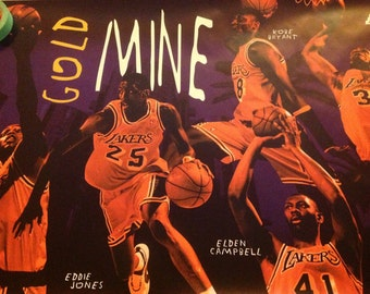 Los Angeles Lakers NBA Basketball Team Original Rare Large 23x35 inches Poster