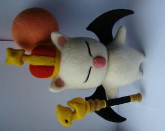 Final Fantasy - Moogle - King Moggle Mog - Realm Reborn - Needle felting - FFXIV