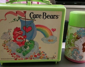 Vintage CARE BEARS lunchbox w/thermos