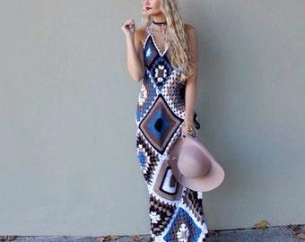 Gyspy Geo Maxi Dress