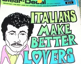 itailians window sticker