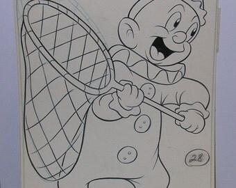 Vintage 1960s Whitman Original Art - Warner Brothers Elmer Fudd