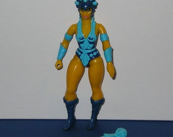 Vintage 1980s Mattel Masters of the Universe Evil Lyn Figure - complete