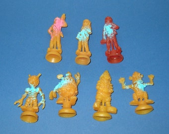 Vintage Lot of Rubber Spacemen and Aliens (Lot # 2)