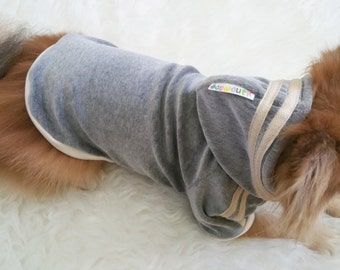 Gray Velvet dog clothes, doggy hoodie, pet sports wear, small dogs jackets, dogs winter clothes, cute puppy hoodie, t-shirt for t-cup, cats