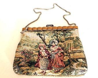 Tapestry handbag vintage