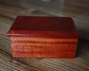 Mahogany box, Jewelry box, Keepsake box,