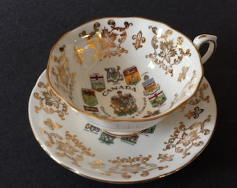 Vintage Decor, Gorgeous Canadian Cup and Saucer