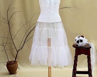 Tulle Wedding Crinoline Bridal Petticoat Underskirt Wedding Dress Wedding Separates Bridal Slip Retro Wedding Bohemian Wedding