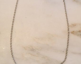 "Vintage sterling silver neckace 18"" chain with sterling pendant"