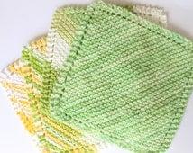 KNIT / Dish Cloth  Cotton Wash Cloth Face Cloth