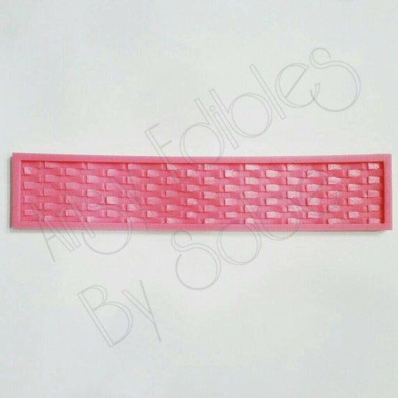 Basket Weaving Molds : Large basket weave silicone mold