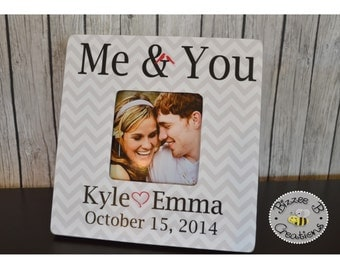 Couples Picture Frame, Me & You, Song Lyric Frame, Wedding Gift, Anniversary Gift, Gift for Bride and Groom