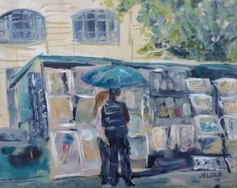 Browsing at a Bouquiniste, Paris No. 77