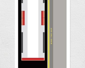Mind The Gap - London Underground Collection - Print //  A4/A3/A2 // 8.27 x 11.69 inches/11.69 x 16.53 inches/16.53 x 23.39 inches