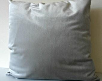 Neutral Velvet Pillow Cover - natural velvet cushion - light dove velvet décor pillow - pale grey beige velvet throw pillow