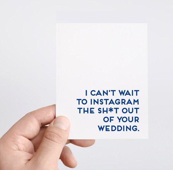 Wedding Card | Funny Wedding Card | Funny Engagement Card | Instagram | Wedding Hashtag Card | Engagment Card | Bridesmaid Card