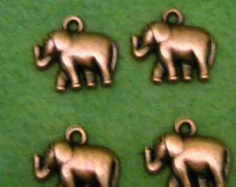 Copper Elephant Charms (4)