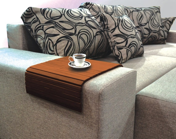 Sofa Tray Table TV Tray Wooden Coffee Table Color By MagicWoodArt
