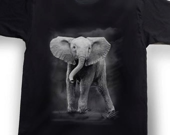 Airbrushed Baby Elephant T-shirt African Tee Shirt in all sizes