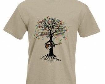 Bass Guitar T-shirt Musical Tree Bass Guitarist in all sizes