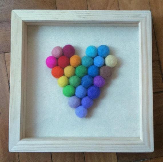 Rainbow Heart Box Frame