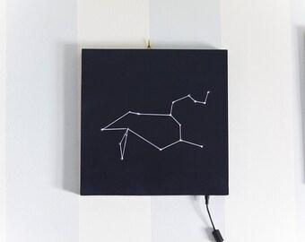 lighting / stars / constellation / zodiac / leon / home decor / lamp / handmade / design / wood