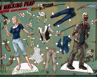 Andrea Tribute - The Walking Dead. Paperdoll (signed prints) © Iván García