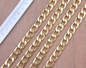 3 yards Imitation gold plated aluminum chain 17x11.5x3mm