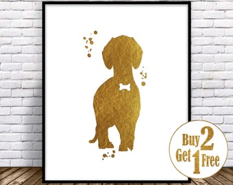 Dachshund Wall Art dachshund wall art | etsy