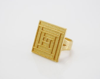 Log Cabin Ring - US Size 07