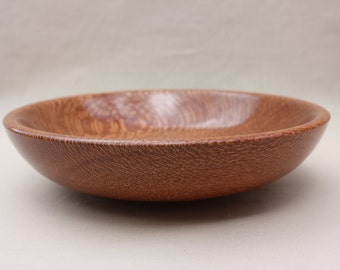 Turned wooden ropala lacewood bowl