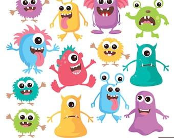 Little Monsters Digital Clipart